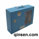Corrugated Paper Box with Pvc window & Handle for Apperal