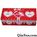 Deluxe Underwear Box with Ribbon Ties<br>Rigid Cardboard Box