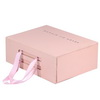 fancy customized folding rigid magnetic pink paper packaging box for Shoe Gift